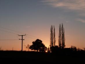 Winter evening Stoke Bliss