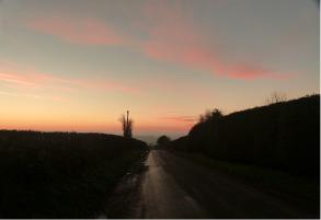 Sunset towards Tenbury Wells