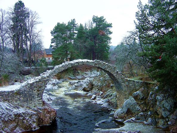 Old packhorse bridge (c.1717), Carrbrig, Scotland